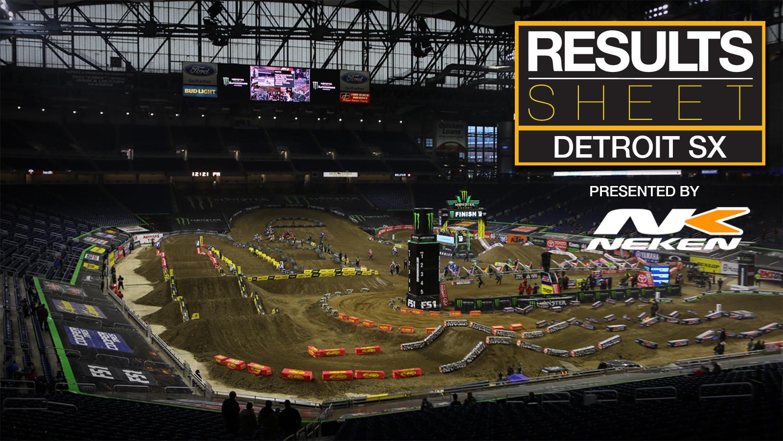 Results Sheet: Detroit Supercross