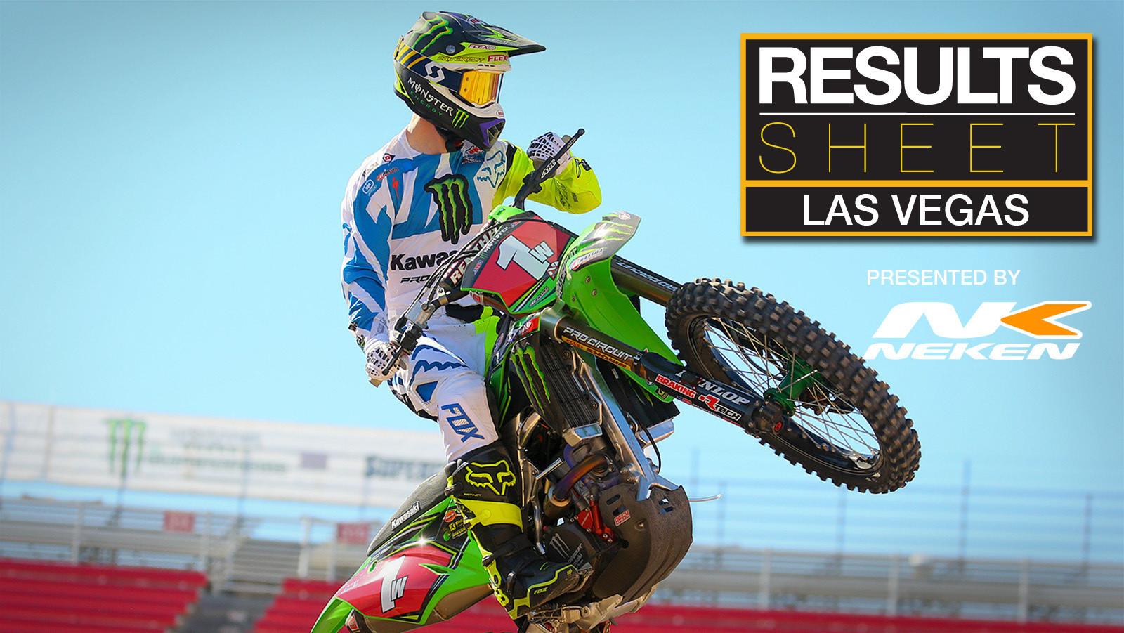Results Sheet: Las Vegas Supercross