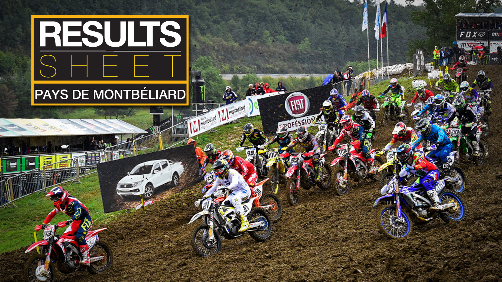 Results Sheet: 2017 MXGP of Pays de Montbéliard - Sunday
