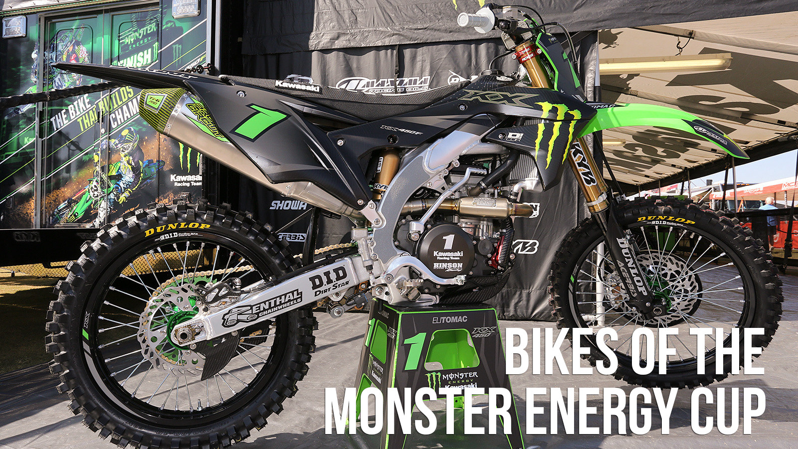 The Bikes of the 2017 Monster Energy Cup
