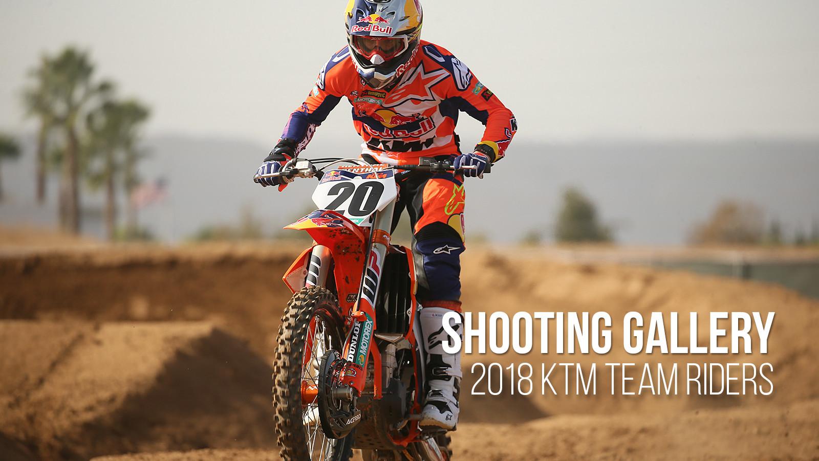 Shooting Gallery: 2018 KTM Team Riders