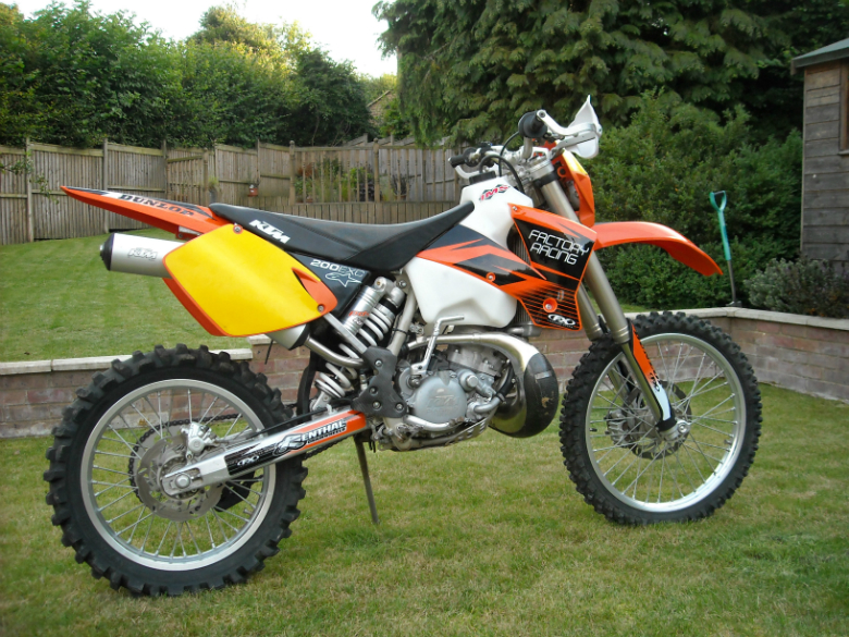 ktm 200 build finished. - moto-related - motocross forums