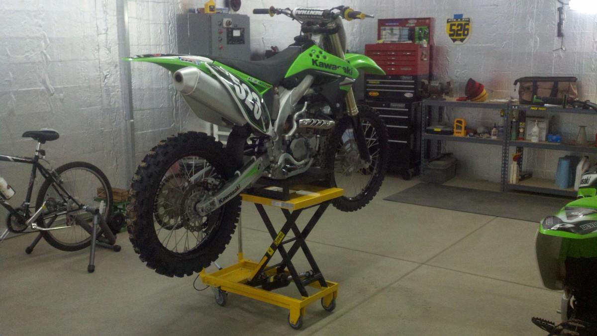 Poor Man S Motorcycle Lift Moto Related Motocross