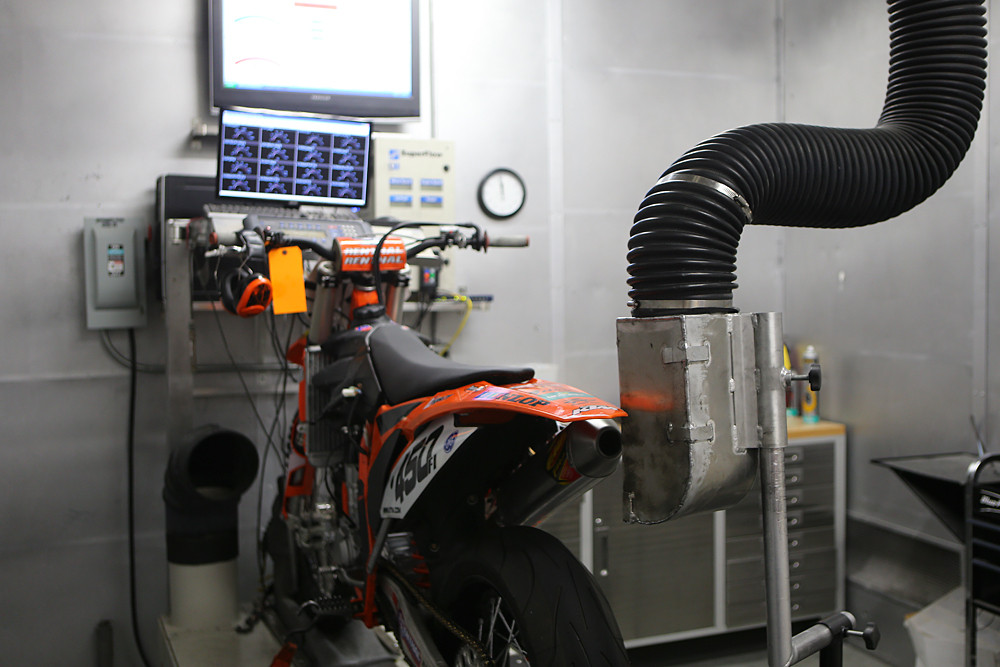Every Factory Services engine hit the dyno after it's rebuilt, and before heading out to the track, which is extremely time-consuming.