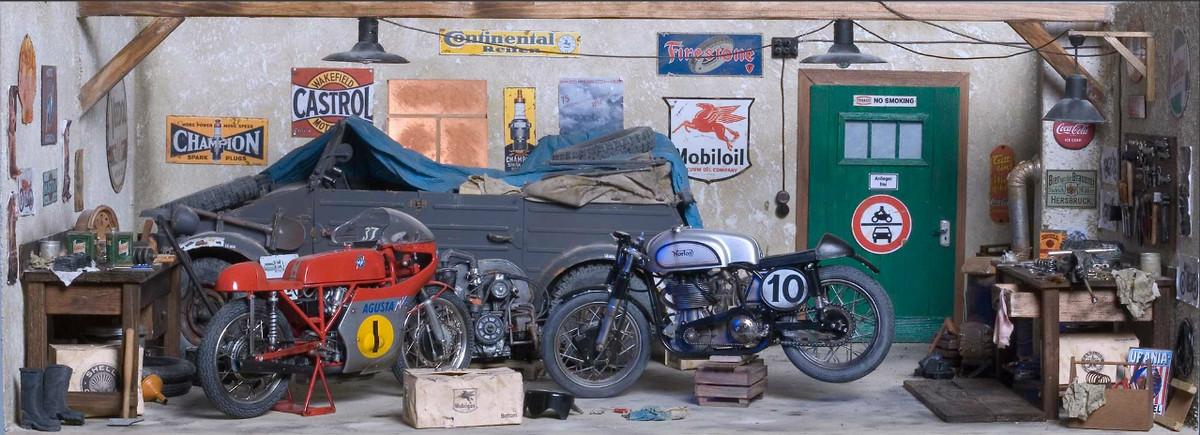 Drool worthy garage old school moto motocross forums for Location garage moto