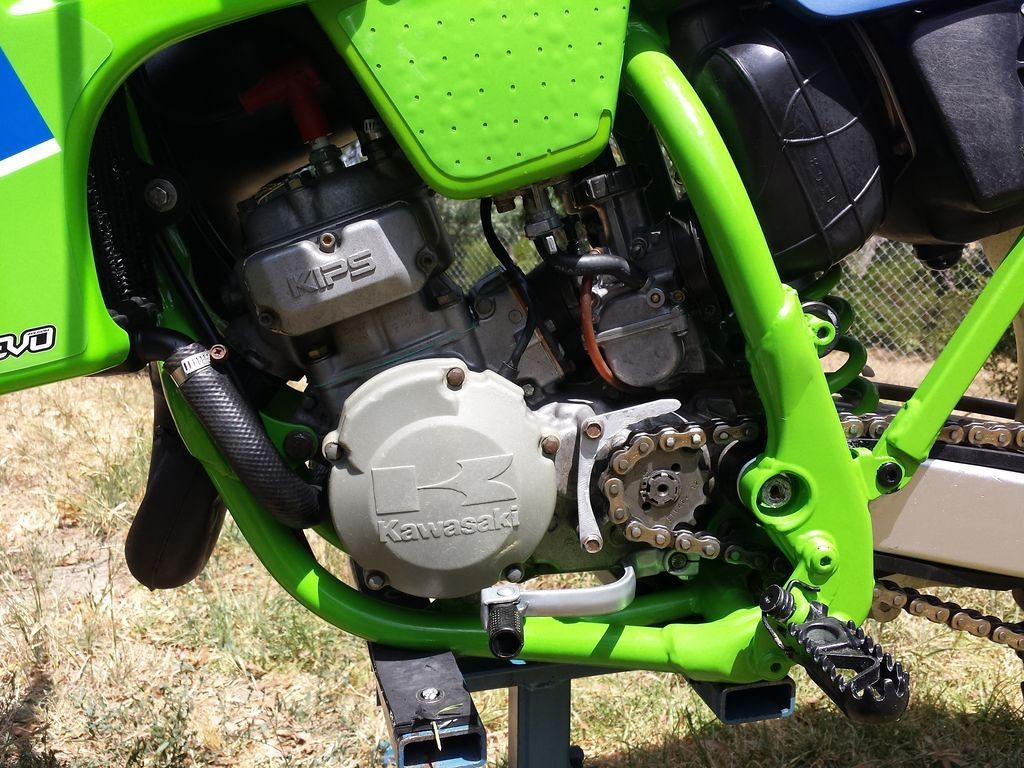 kawasaki green frame paint - old school moto - motocross forums