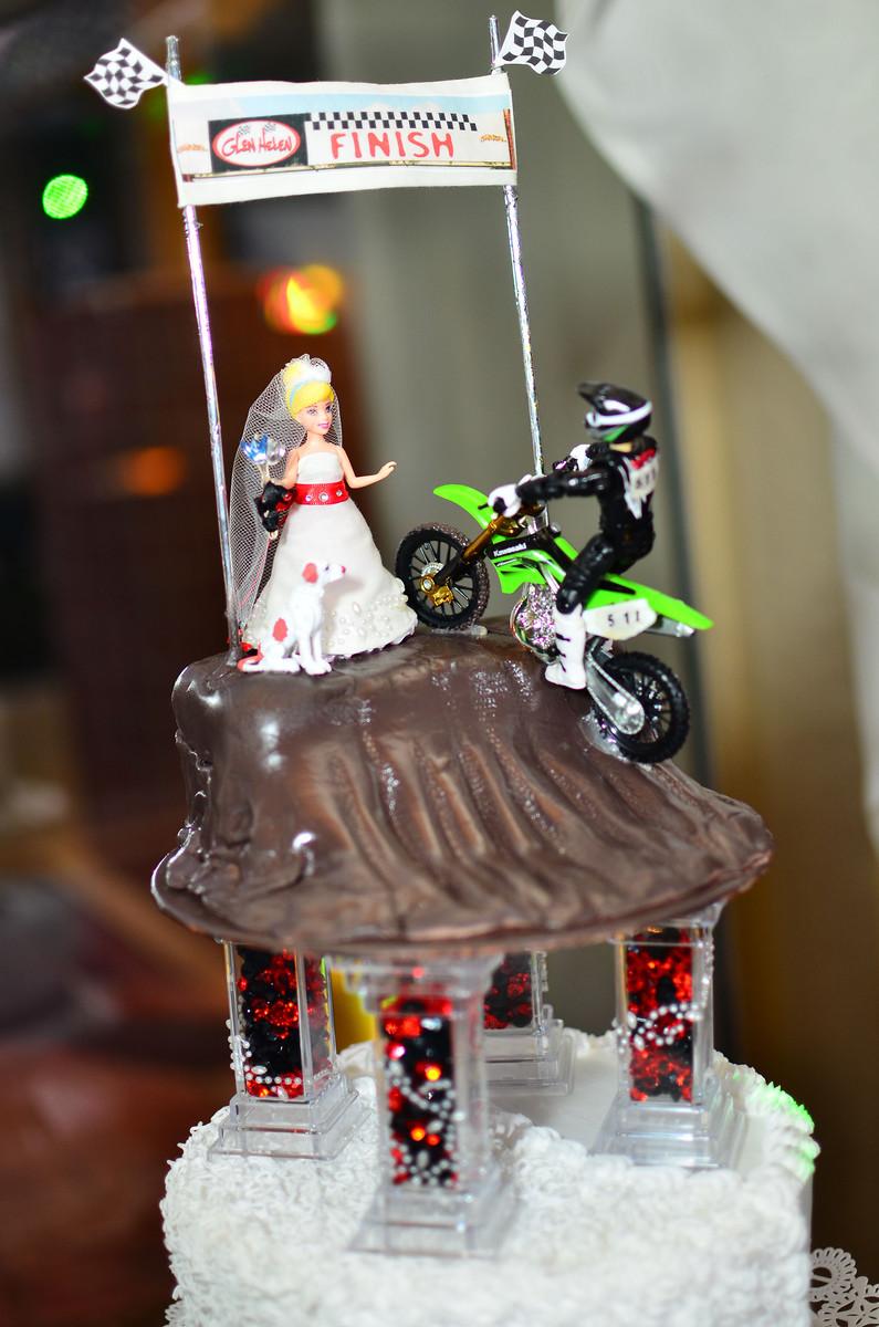 Motocross Cake Topper