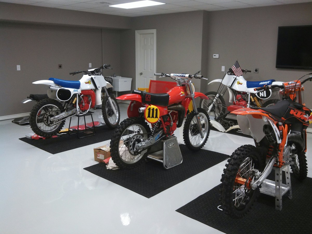 Advice on garage bike mat moto related motocross for Garage preparation moto