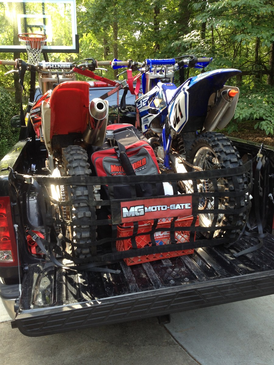 truck tailgate trick with bikes loaded in back moto related motocross forums message. Black Bedroom Furniture Sets. Home Design Ideas