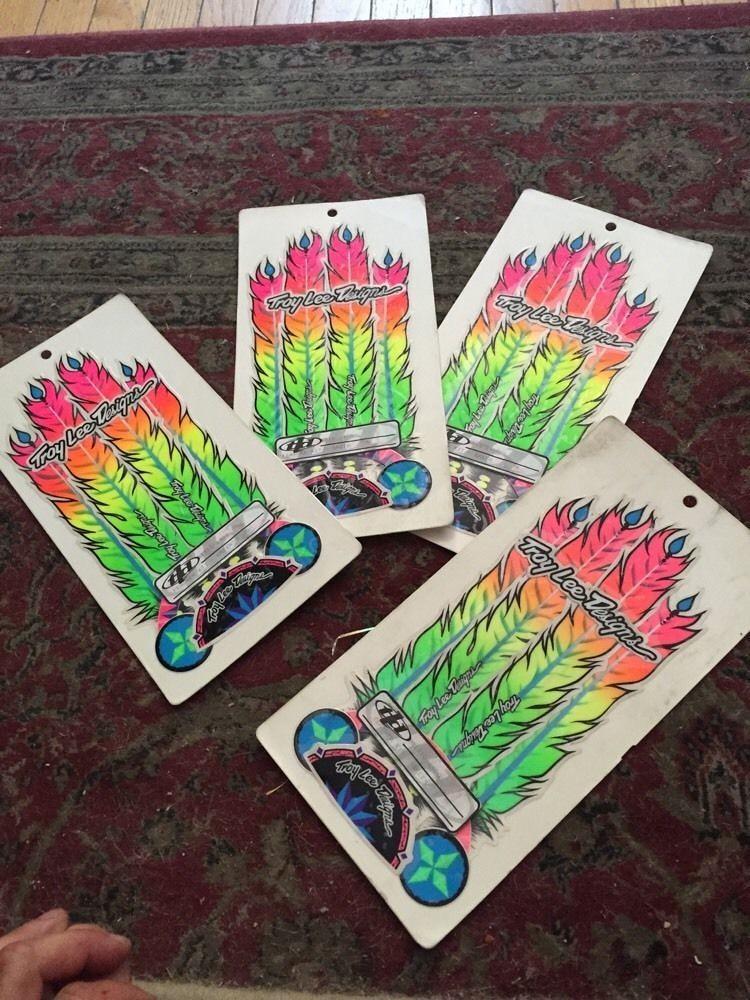 troy lee designs vintage feather sticker kit old
