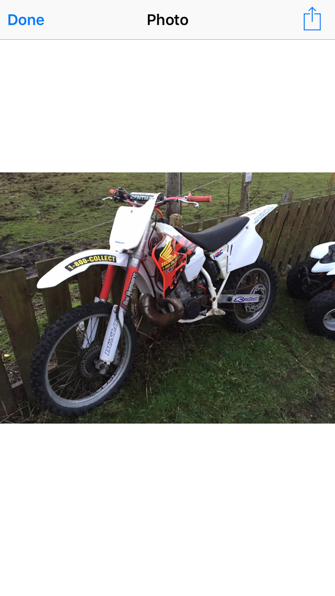 Just Sourced This 1996 Cr 250 Its A Little Rough N Ready But Sure It Will Soon Tidy Up