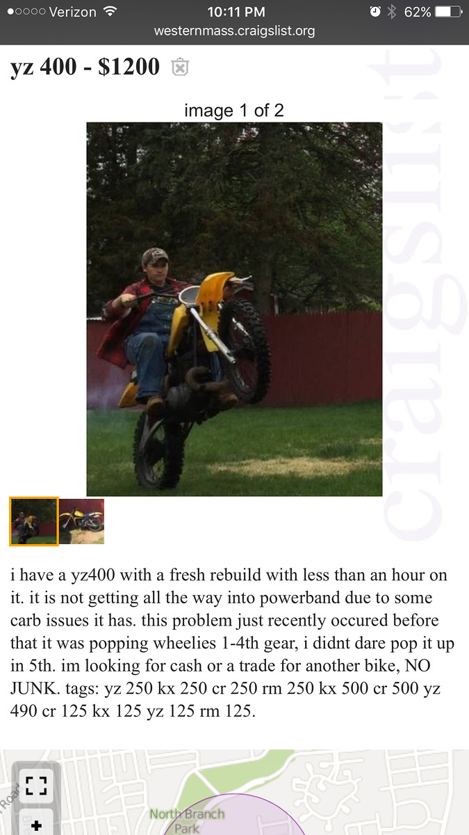 Funny Quot Motorcycle For Sale Quot Ads The Dumbgeon Motocross