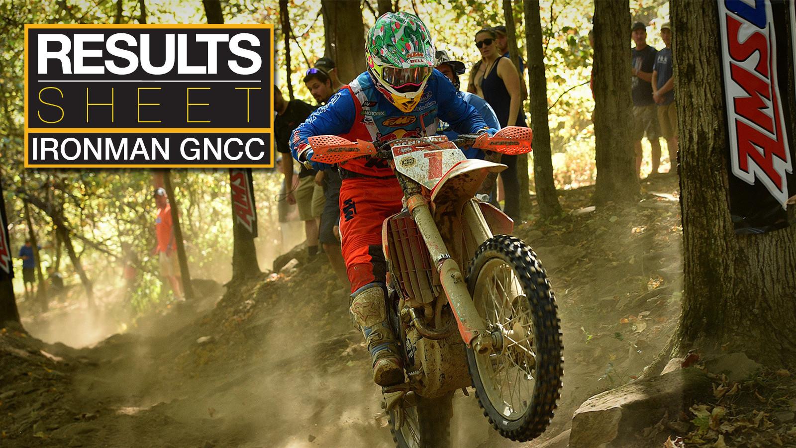 Results Sheet: Ironman GNCC