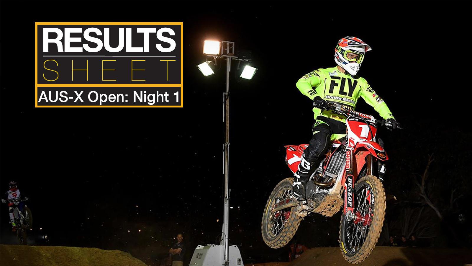 Results Sheet: 2017 Australian Supercross Championship - AUS-X Open Night 1