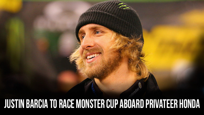 Justin Barcia to Compete at 2017 Monster Energy Cup aboard Privateer Honda