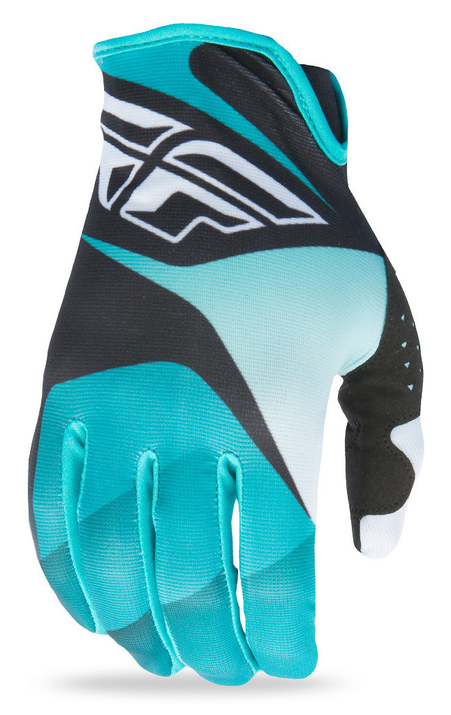 Fly Racing Lite Gloves  Black/White/Teal