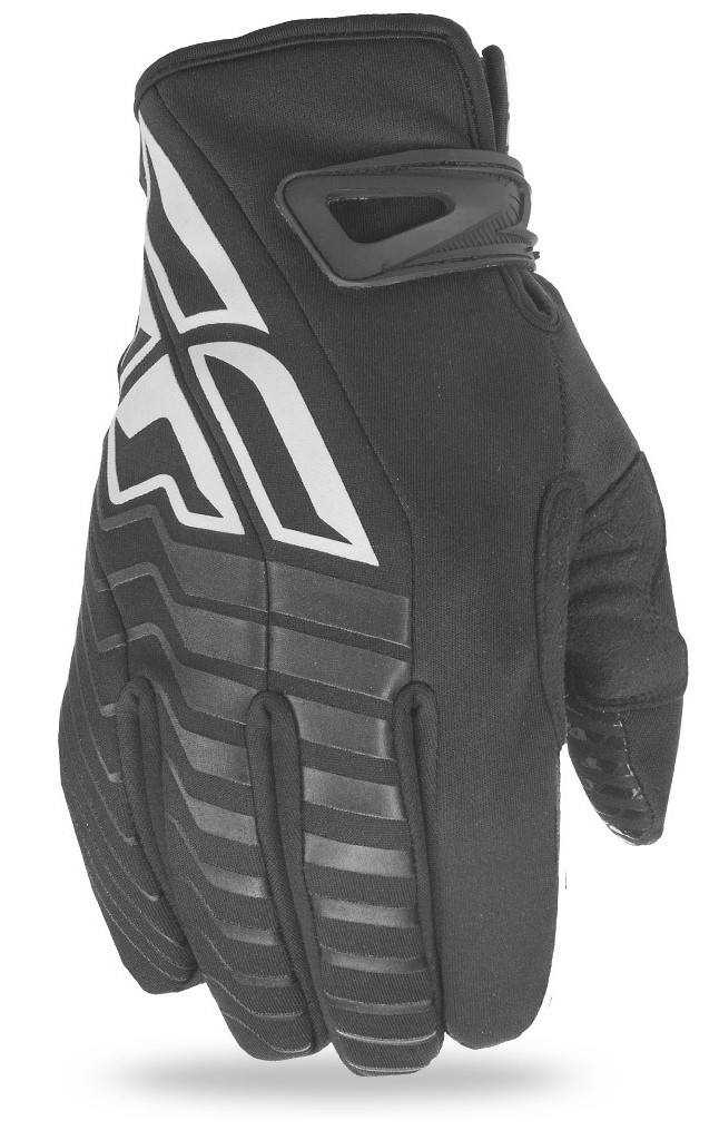 Fly Racing Title Cold Weather Gloves  Black/White