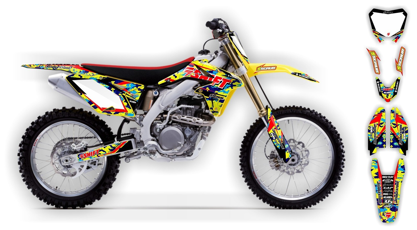 Scrub Designz Suzuki graphics kit Step up  SUZUKI graphics