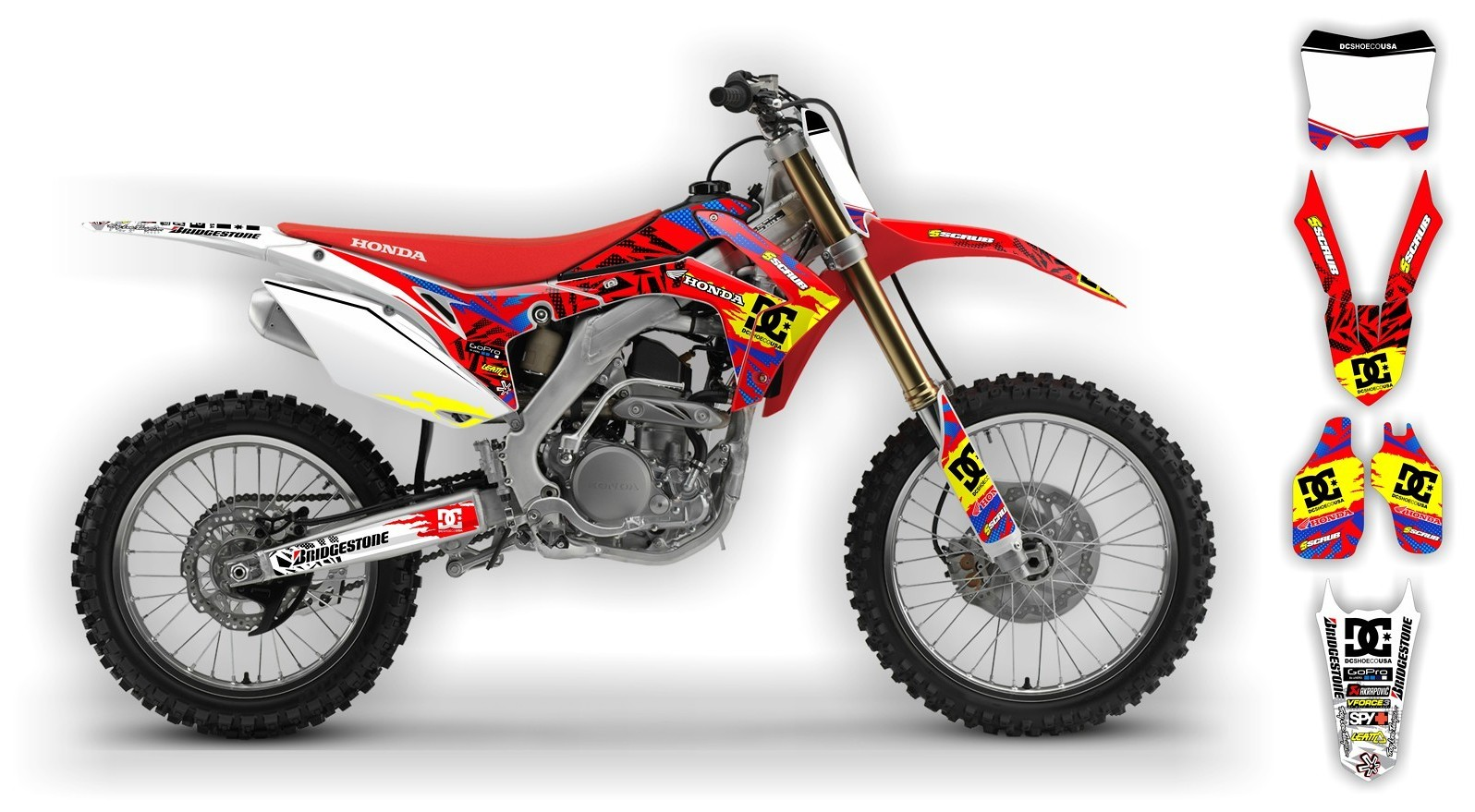Scrub Designz Honda graphics kit Kicker  HONDA graphics