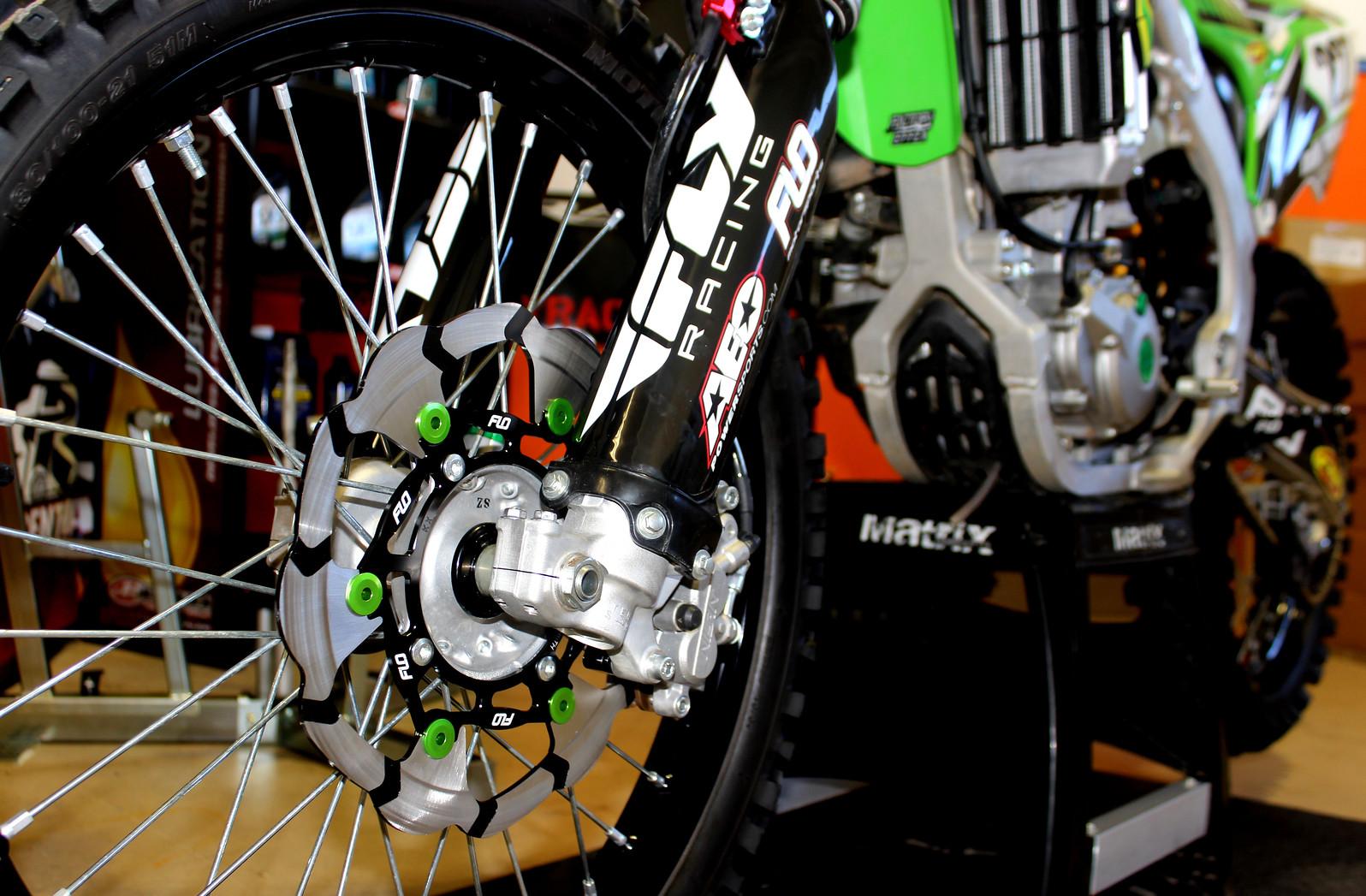 Flo Motorsports 270mm Floating Brake Rotor  rotor on bike 4