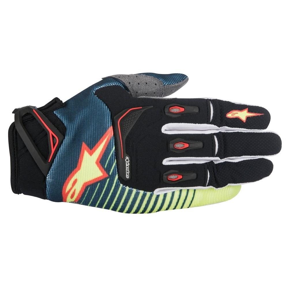Alpinestars Techstar Gloves Alpinestars Techstar Blue and Yellow