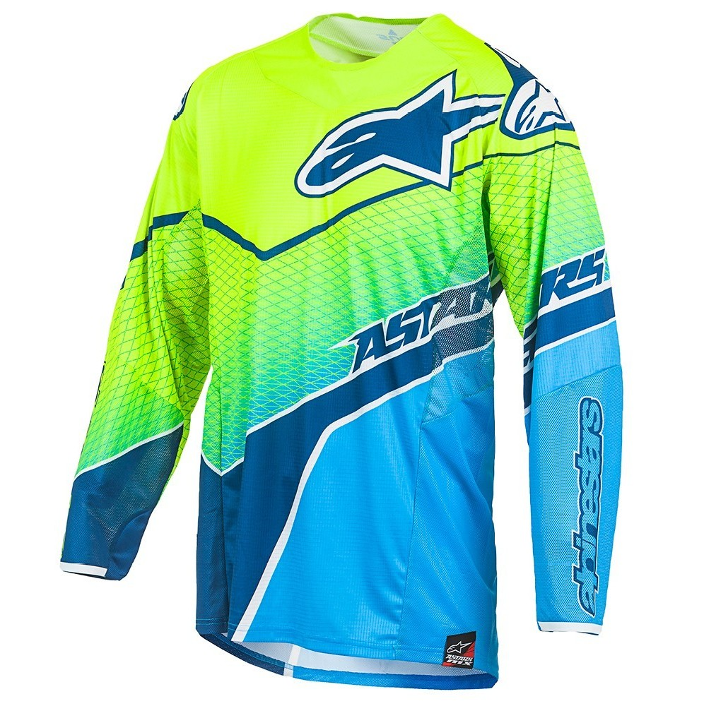 Alpinestars Techstar Venom Jersey Alpinestars Techstar Venom Green and Blue