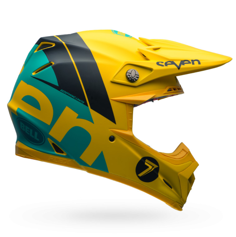 Bell Moto-9 Carbon Flex Helmet Bell Moto-9 Flex Seven Yellow