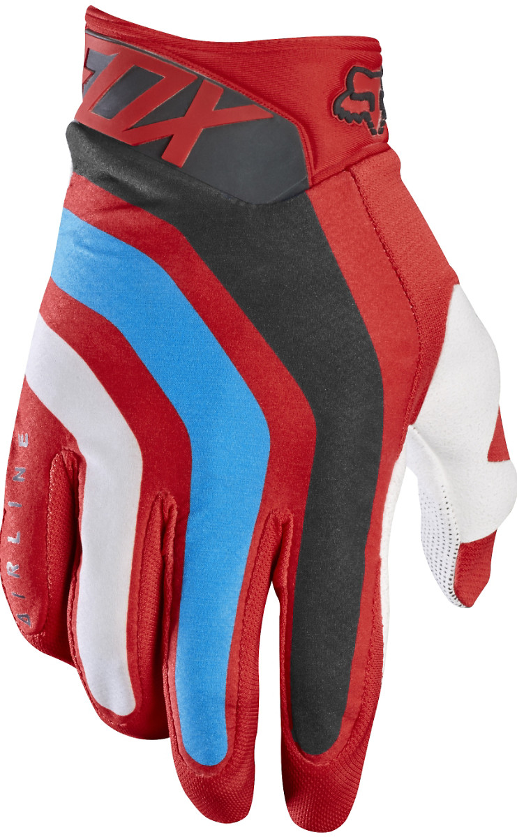 Fox Racing Airline Seca Gloves Fox Racing Airline Seca Red