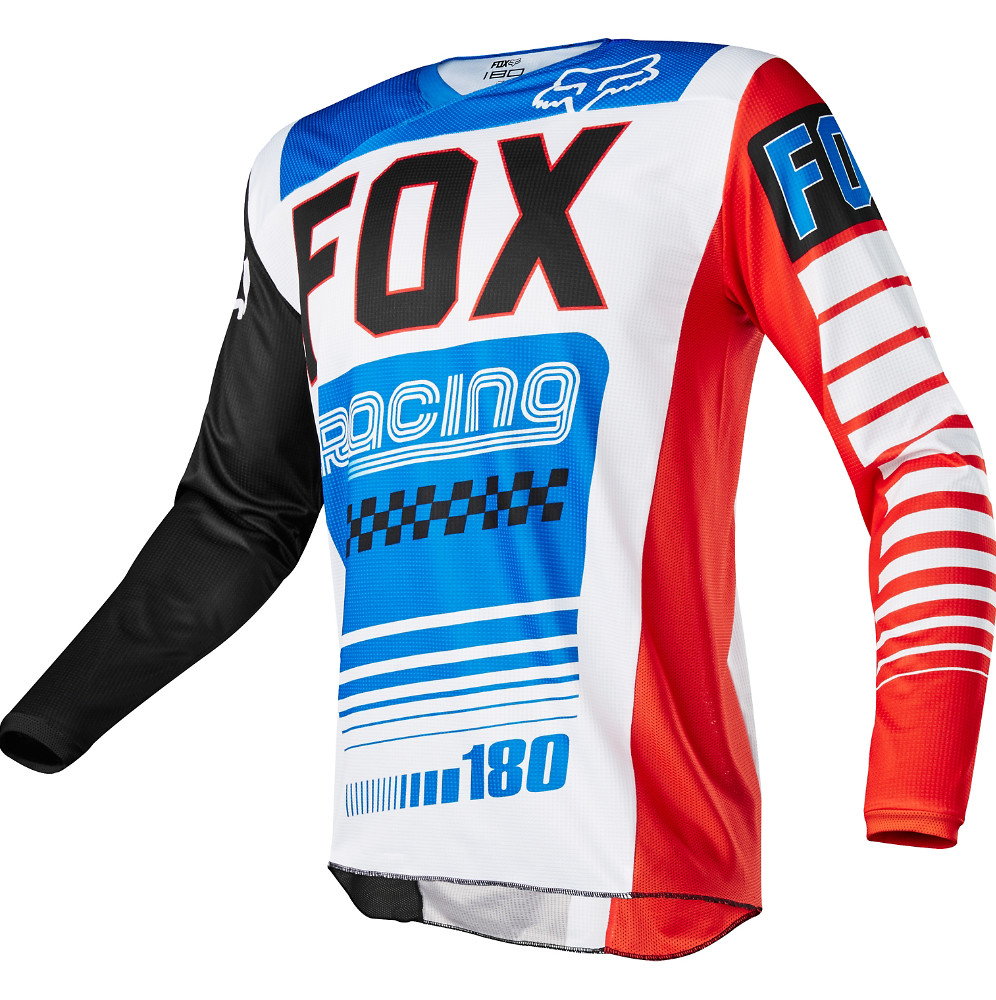 Fox Racing 180 Fiend Special Edition Jersey Fox Racing 180 Fiend Red, White, and Blue