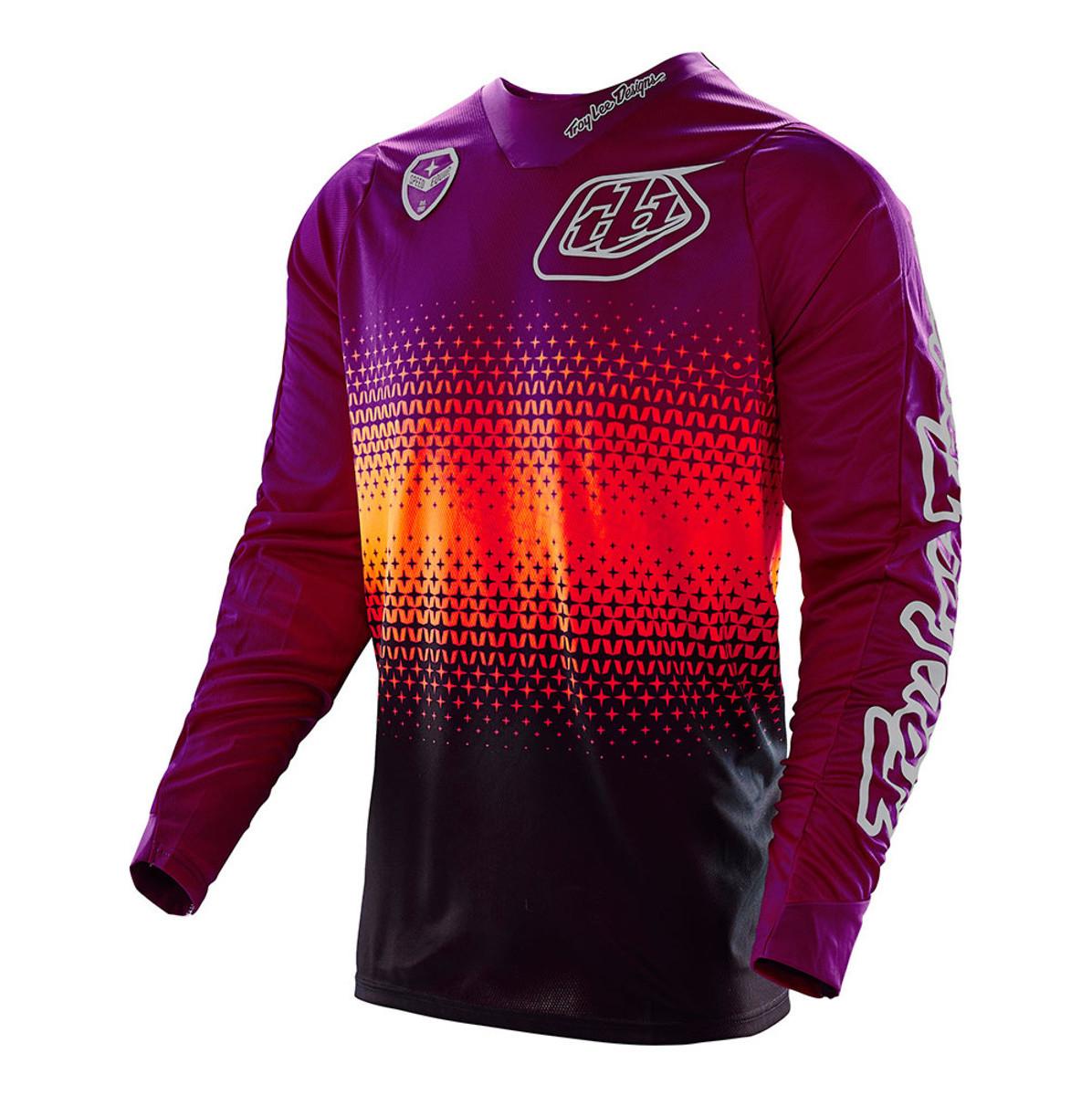 Troy Lee Designs SE Starburst Jersey Troy Lee Designs SE Starburst Black and Purple