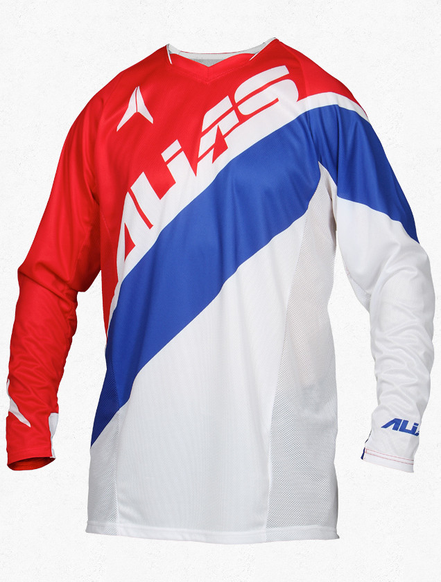 Alias A1 Floated Jersey & Pant  Alias A1 Red and Blue