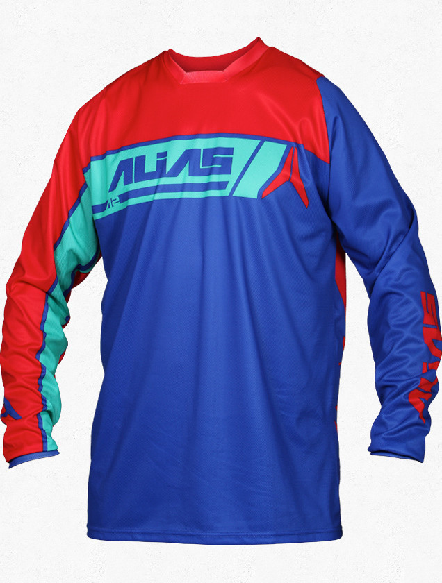 Alias A2 Sidestacked Jersey Alias A2 Sidestacked Red and Blue