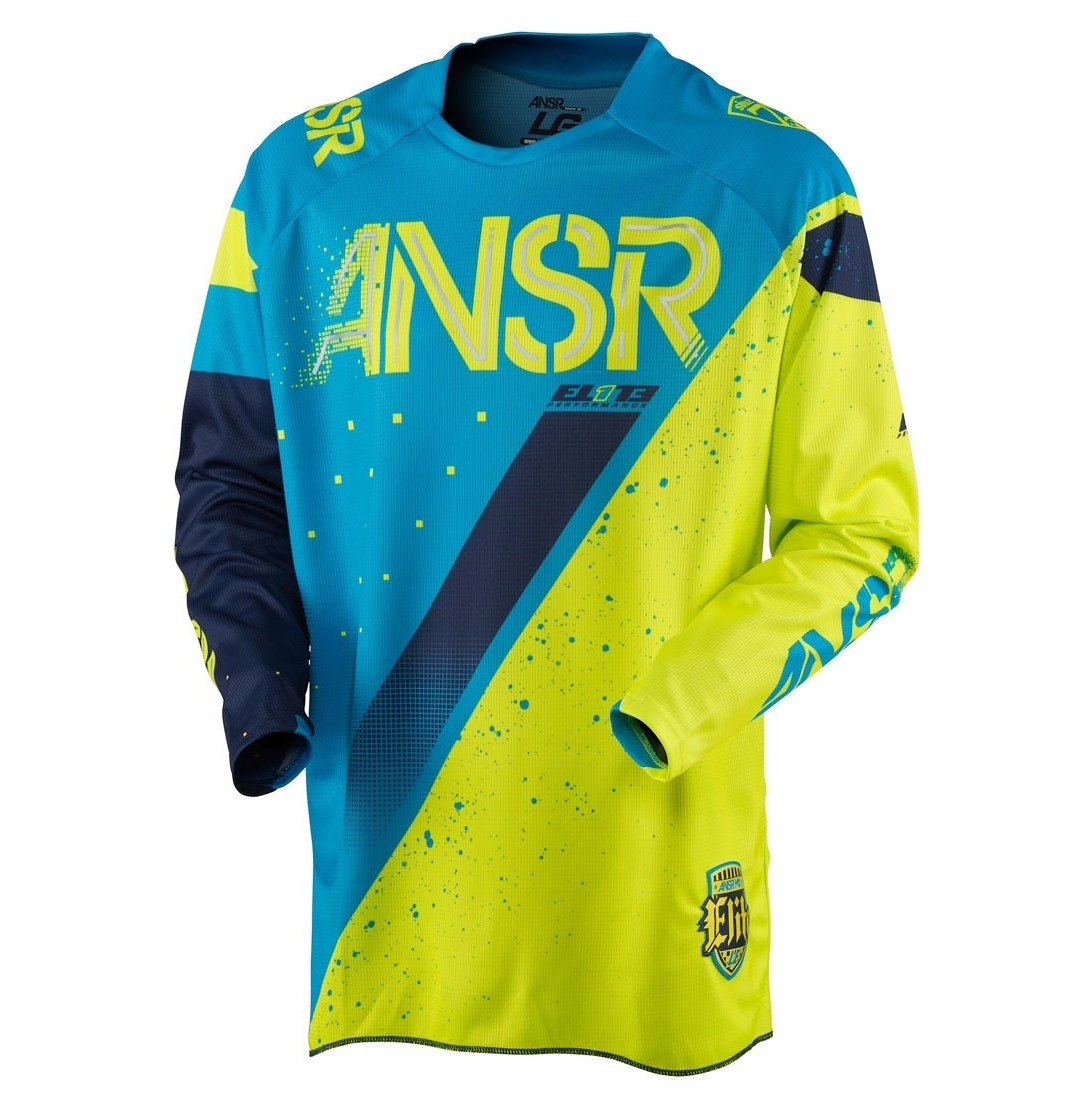Answer Racing Elite Halo LE Jersey & Pant  Answer Racing Elite Halo LE Blue and Yellow