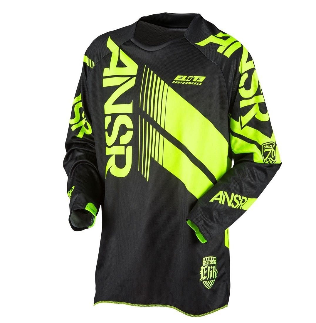 Answer Racing Elite Jersey Answer Racing Elite Black and Yellow