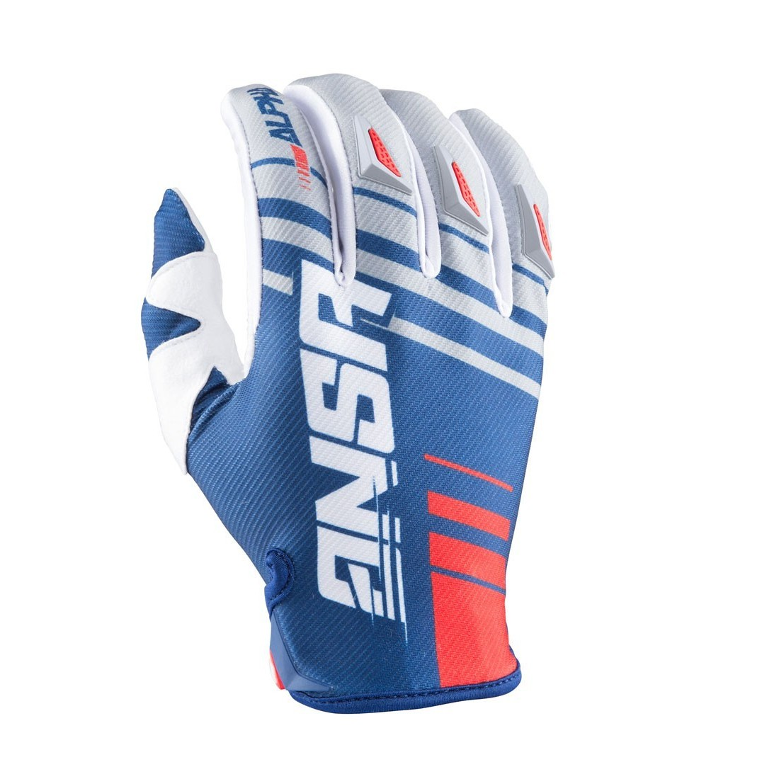 Answer Racing Alpha Gloves Answer Racing Alpha Gray and Navy