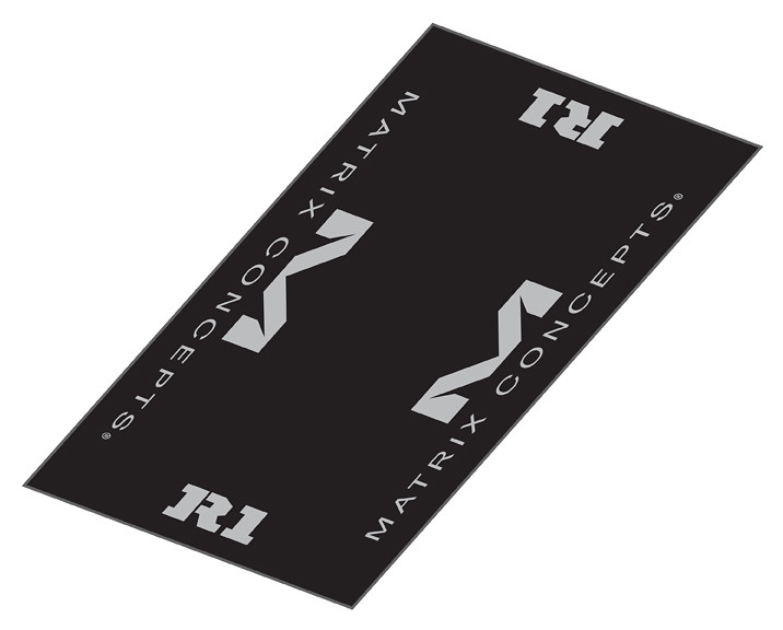 Matrix Concepts R1 Worx Rubber Mat  R1 Worx Mat 3x6 Grey