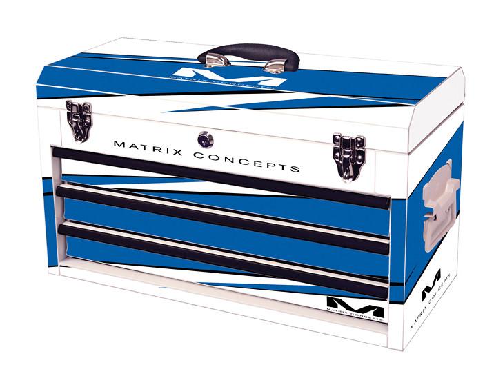 Matrix Concepts M80 Race Series Tool Box - 3 Drawer  M80 3 Drawer Bolt Blue 303