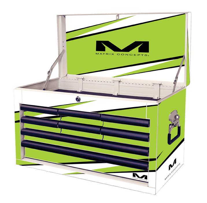 Matrix Concepts M80 Race Series Tool Box  - 8 Drawer  M80 8 Drawer Bolt Green 805