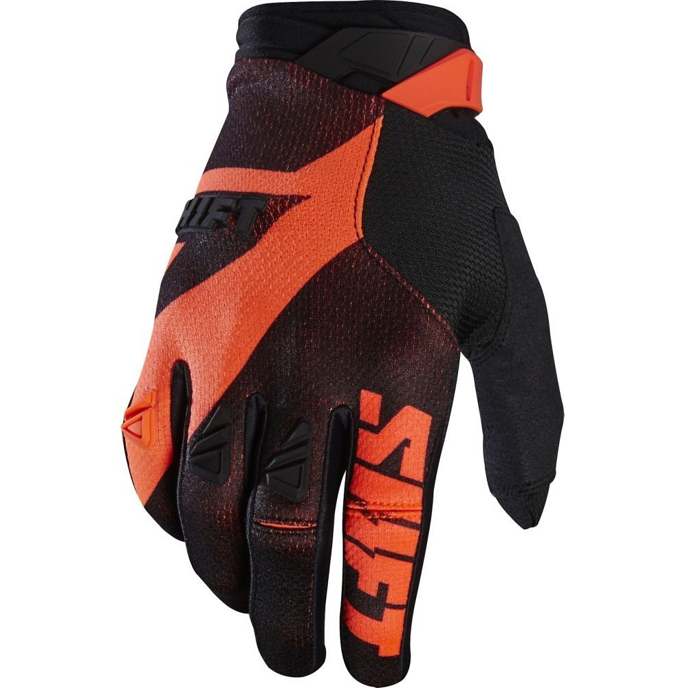 Shift MX 3LACK Pro Gloves Shift MX 3LACK Pro Orange and Black