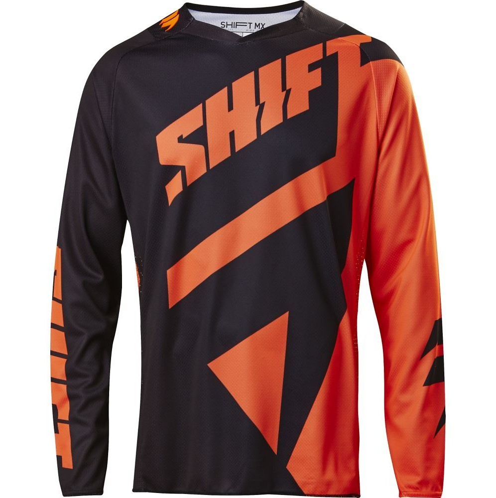 Shift MX 3LACK Mainline Jersey Shift MX 3LACK Mainline Orange and Black