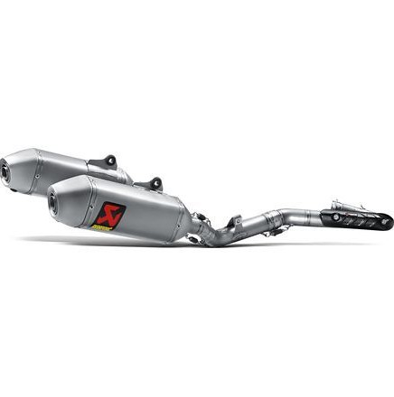 Akrapovic Evolution Standard Titanium Full System Dual Exhaust with Spark Arrestor  Akrapovic Evolution Standard Titanium Full System Dual Exhaust with Spark Arrestor