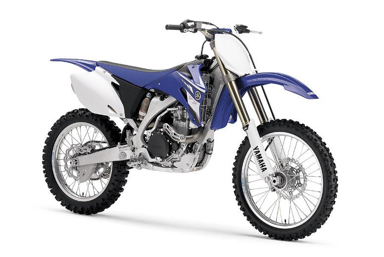 2008 Yamaha YZ450F  08YZ450F_FR3-4_blue