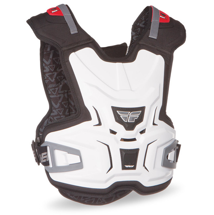 Fly Racing Junior Lite Body Vest Chest Protector Fly-Junior-Vest-White