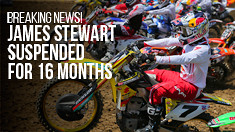 Breaking News: James Stewart Suspended For 16 Months