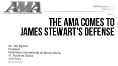 The AMA Comes To James Stewart's Defense