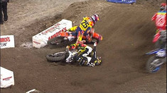 Jason Anderson Shoves Vince Friese After On-Track Incident - 2017 Anaheim 2 Supercross