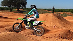 Video: Malcolm Stewart Riding Supercross on a Kawasaki KX450F