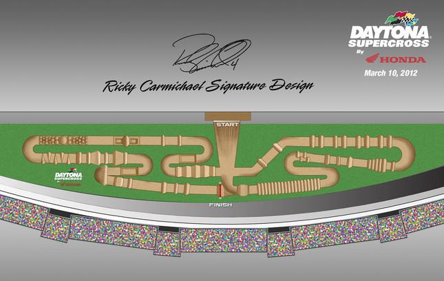 Ricky Carmichael's Signature 2012 Daytona SX Track Design