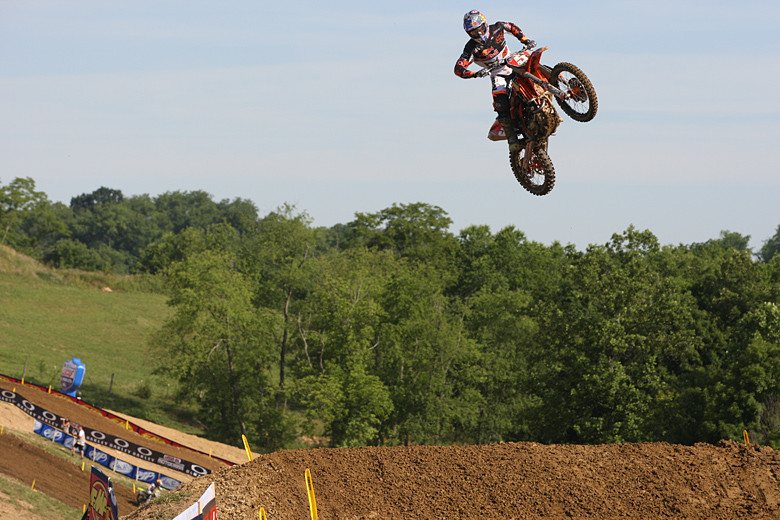 Ryan Dungey was a hair off the pace, and finished fourth in qualifying.