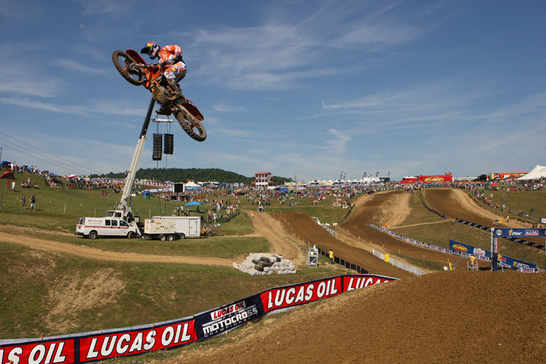 It's true...it's all done with smoke and mirrors...or large cranes. That's how Ken Roczen gets so much air. It doesn't explain the his second in qualifying, though.